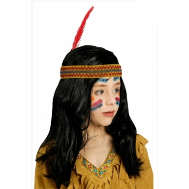 Voordelige indianen kinderpruik