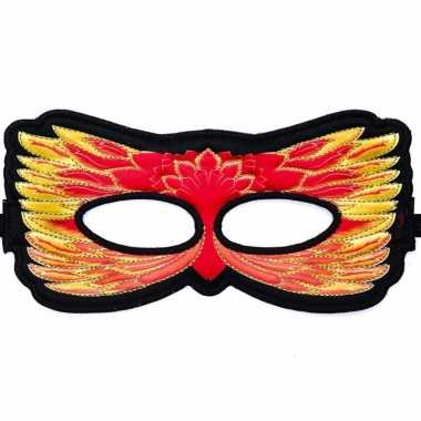 Vuurvogel oogmasker rood/geel voor kinderen