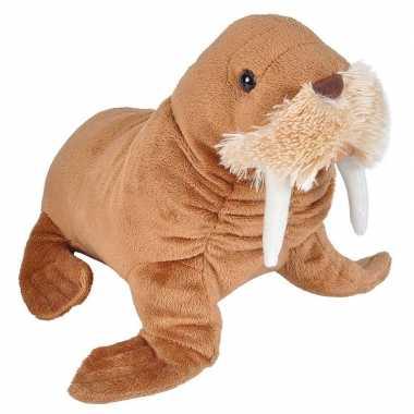 Walrussen speelgoed artikelen walrus knuffelbeest bruin 25 cm