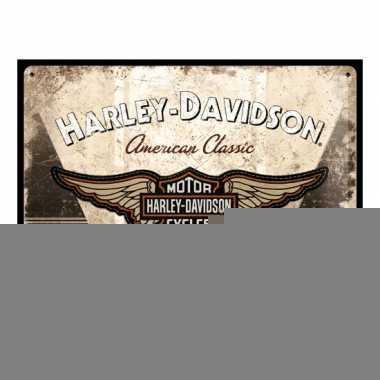 Wanddecoratie harley davidson 30 x 40 cm