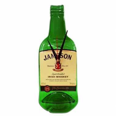 Wanddecoratie jameson fles klok