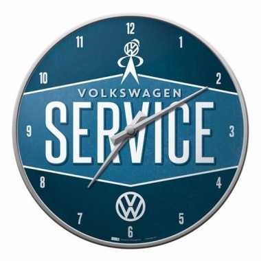 Wandklok volkswagen service 31 cm
