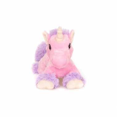 Warme knuffel kruik roze paard mystiek dier 18 cm