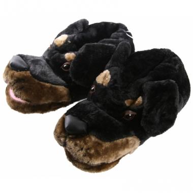 Warme winter sloffen hondenkop