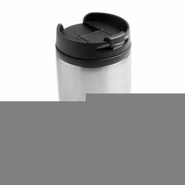 Warmhoudbeker metallic staal grijs 320 ml
