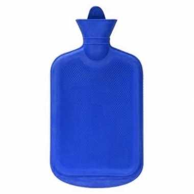 Warmwater kruik blauw 2 liter