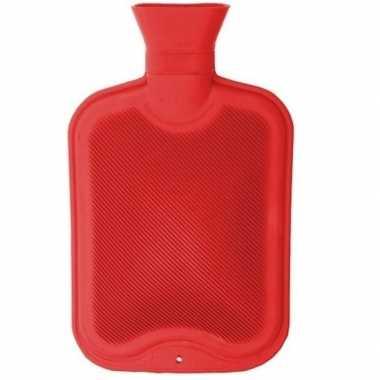 Warmwater kruik rood 2 liter