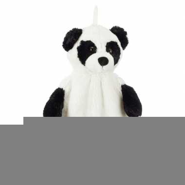 Warmwaterkruik met pluche panda hoes 1 liter