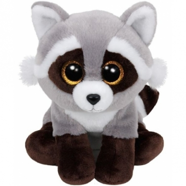 Wasbeer ty beanie knuffel bandit 24 cm