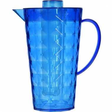 Water kan met koelelement van blauw plastic