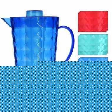 Water kan met koelelement van rood plastic