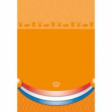 Waterdicht tafellaken koningsdag 180 x 130 cm