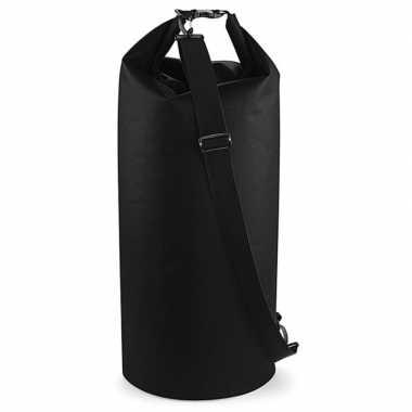 Waterdichte sporttas 60 liter zwart 30 x 70 cm