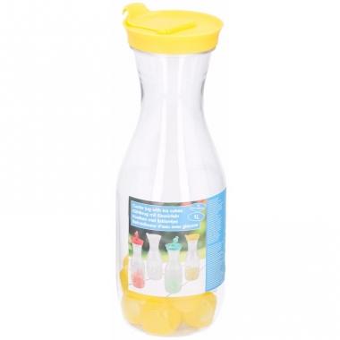 Waterkan met ijsblokjes geel 1l
