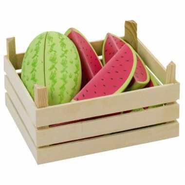 Watermeloenschijven van hout