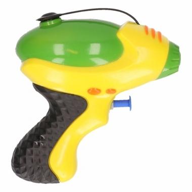 Waterpistool geel groen 10 cm trend