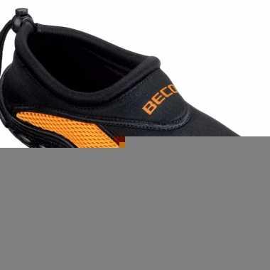 Waterschoen met anti-slip zool zwart oranje