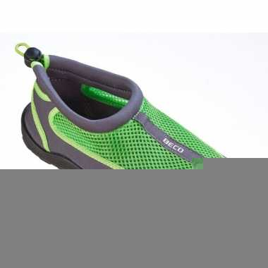 Waterschoenen met anti-slip zool groen