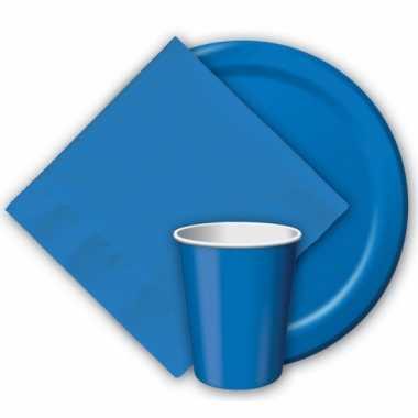 Wegwerp bekers blauw 8 stuks
