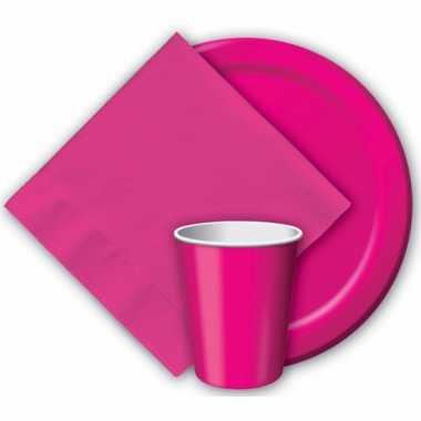 Wegwerp bekers fuchsia roze