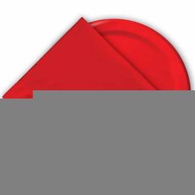 Wegwerp bekers rood 8 stuks
