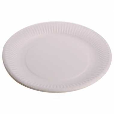 Wegwerp borden wit 23 cm