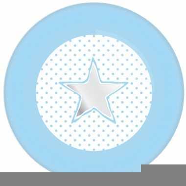Wegwerp bordjes blauw met ster