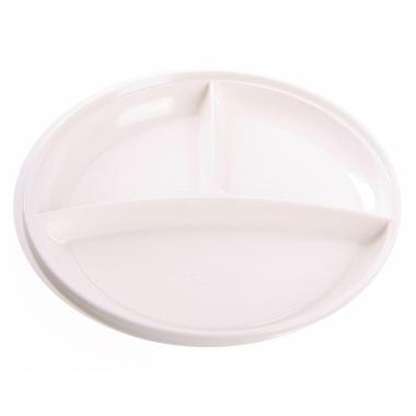 Wegwerp gourmetborden wit 23 cm