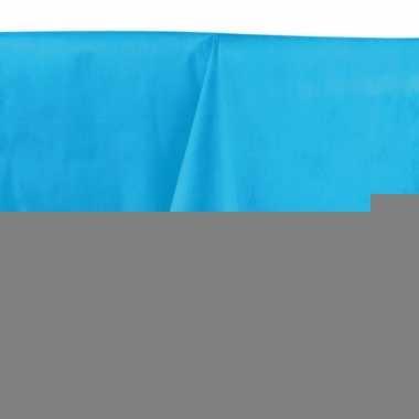 Wegwerp tafelkleed middenblauw 140 x 240 cm