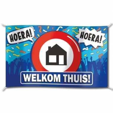 Welkom thuis straatvlag 100x150 cm