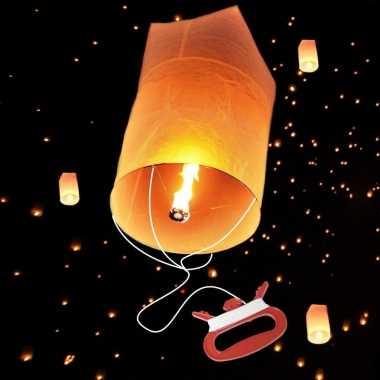 Wensballon met vliegertouw 75 cm