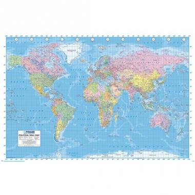 Wereld topografie poster