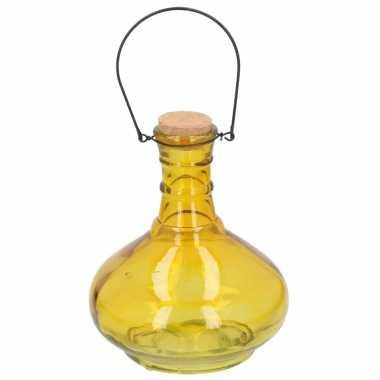 Wespenvanger/wespenval geel 21 cm glas