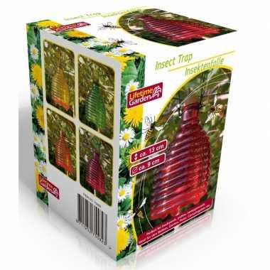 Wespenvanger/wespenval roze 13 cm glas