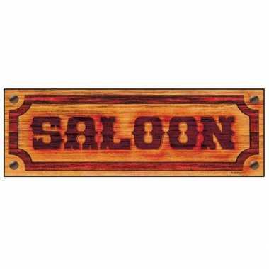 Western saloon bordje