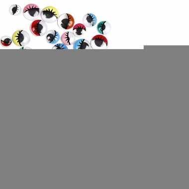 Wiebel oogjes met gekleurde oogleden 30 stuks