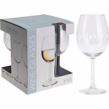 Wijnglazen set 430 ml 4 stuks