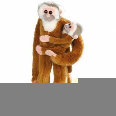 Wild republic pluche hangende aap bruin 43 cm