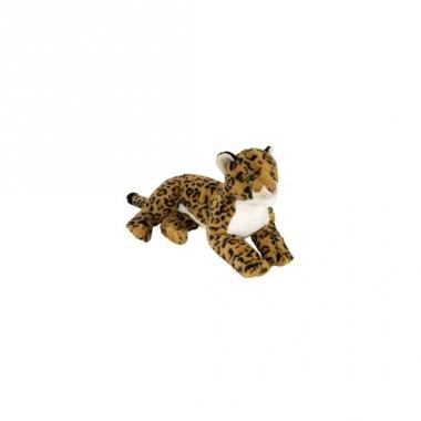 Wild republic pluche liggend luipaard 40 cm