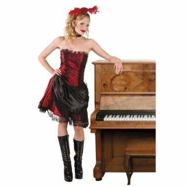 Wild west saloongirls rood/zwart