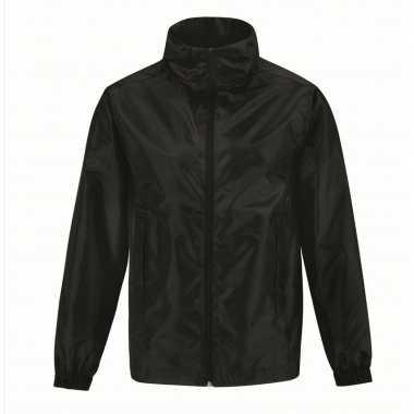 Windjas zwart voor heren/mannen