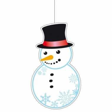 Winter sneeuwpop figuur 41 cm winkelruit decoratie