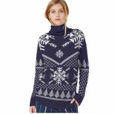 Winter trui navy/wit voor vrouwen