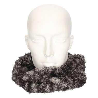 Winter zachte sjaals grijs/luipaard voor volwassenen
