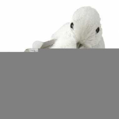 Winterdecoratie vogel met glitters type 1