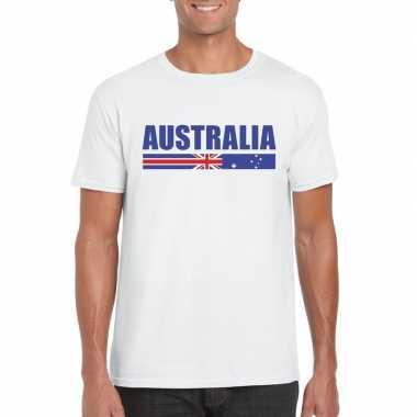 Wit australie supporter t-shirt voor heren