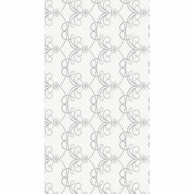 Wit chique tafellaken/tafelkleed 138 x 220 cm