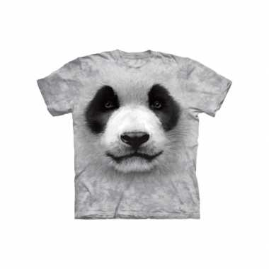 Wit dieren t-shirt reuzenpanda voor kinderen