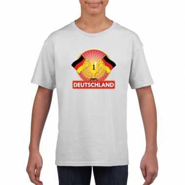Wit duitsland supporter kampioen shirt kinderen