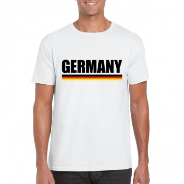 Wit duitsland supporter shirt heren